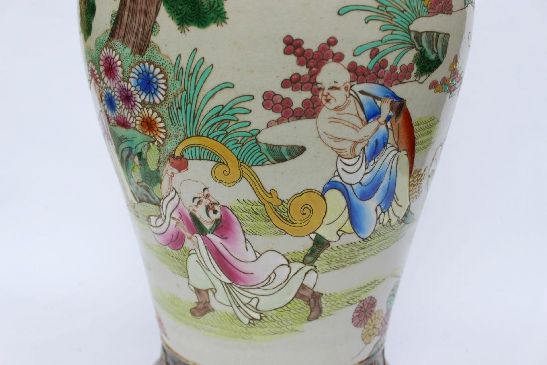 A LARGE CHINESE FAMILLE ROSE VASE - 9