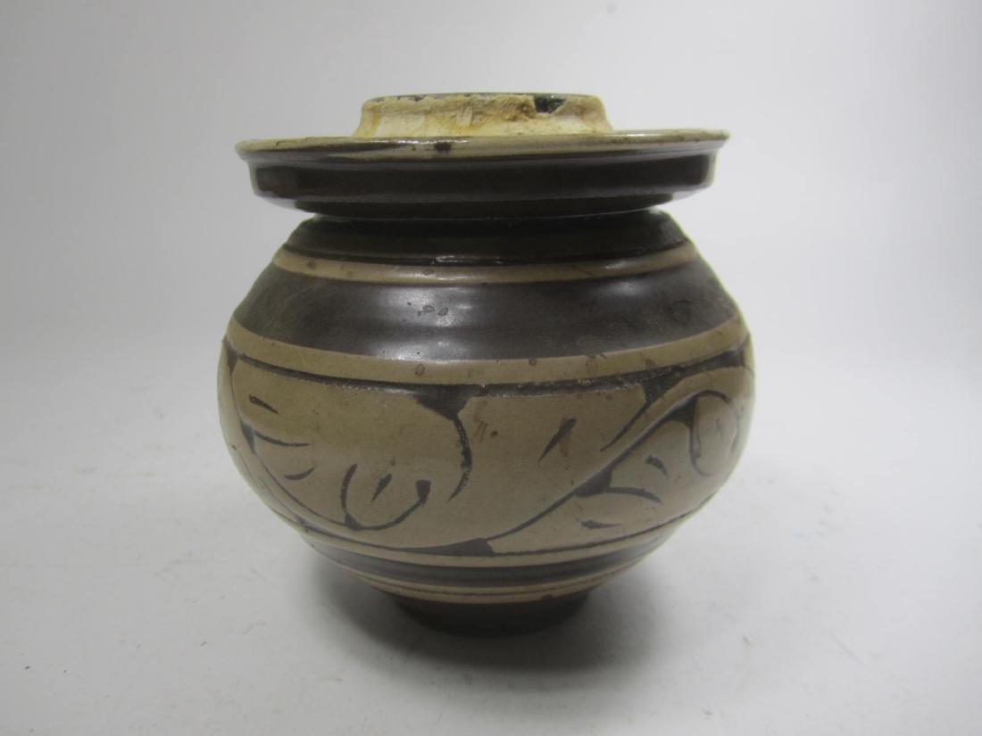 CHINESE ZIZHOU PORCEALIN JAR - 4