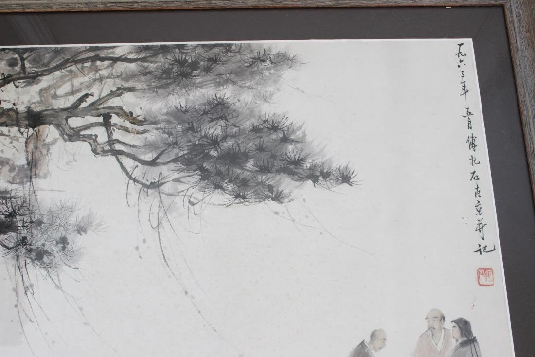 FRAMED CHINESE WATERCOLOR PAINTING - 2