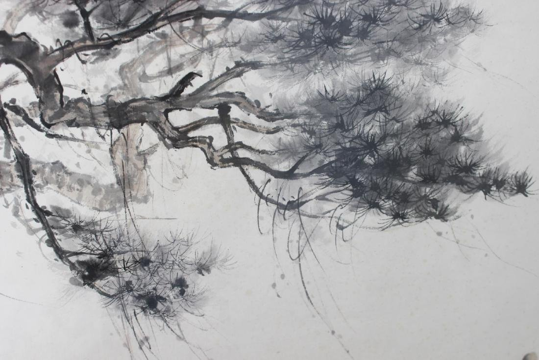 FRAMED CHINESE WATERCOLOR PAINTING - 5