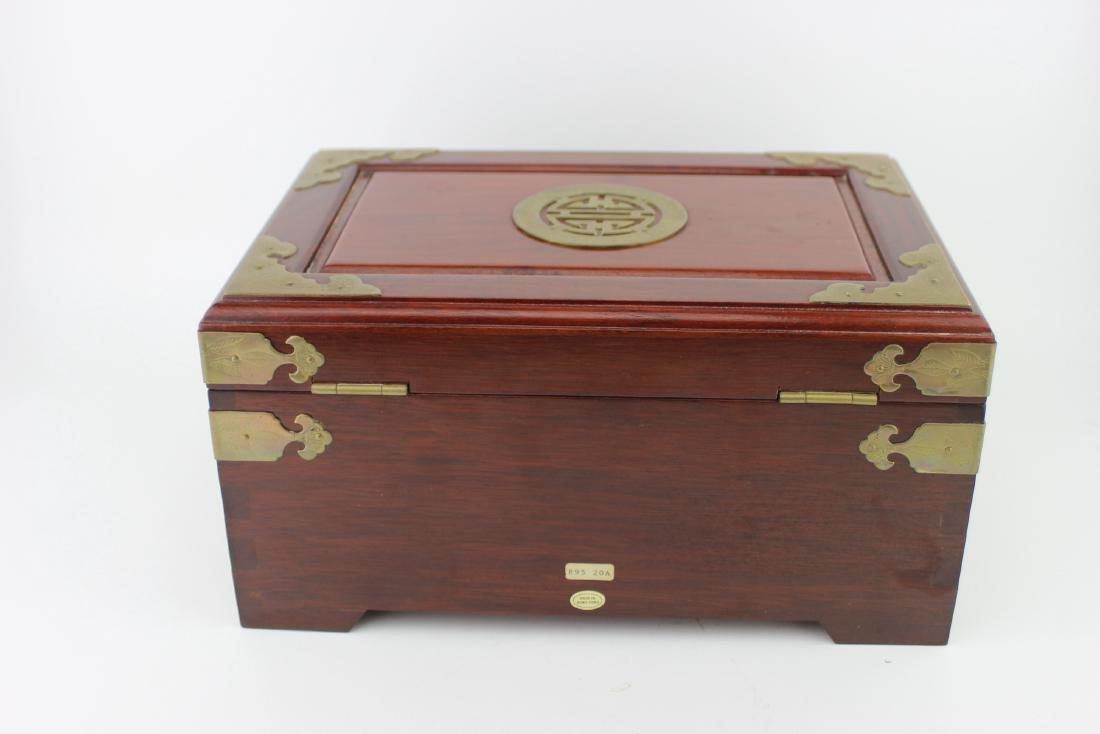 CHINESE REDWOOD JEWELRY BOX