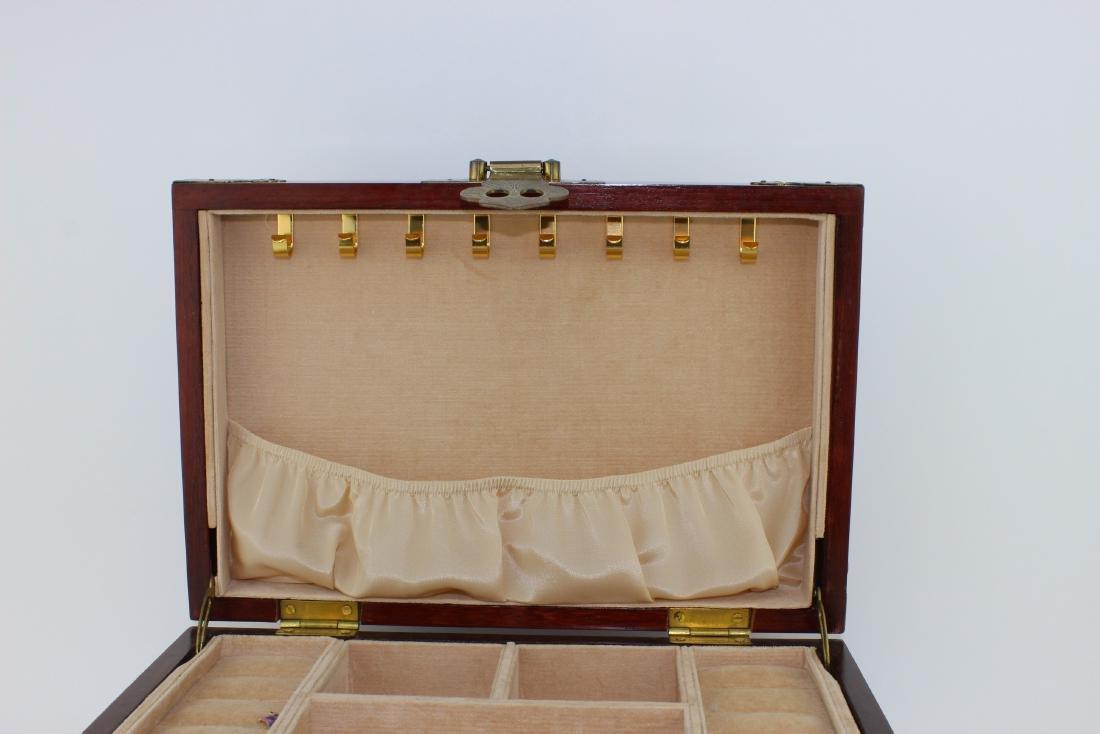CHINESE REDWOOD JEWELRY BOX - 4