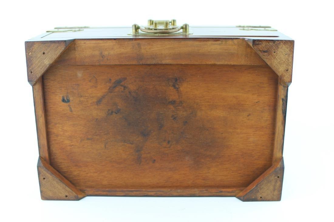 CHINESE REDWOOD JEWELRY BOX - 7