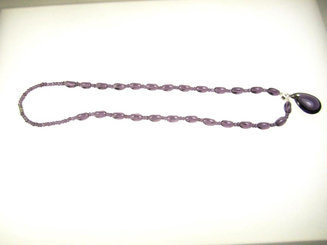 PURPLE CRYSTAL GLASS NECKLACE - 2