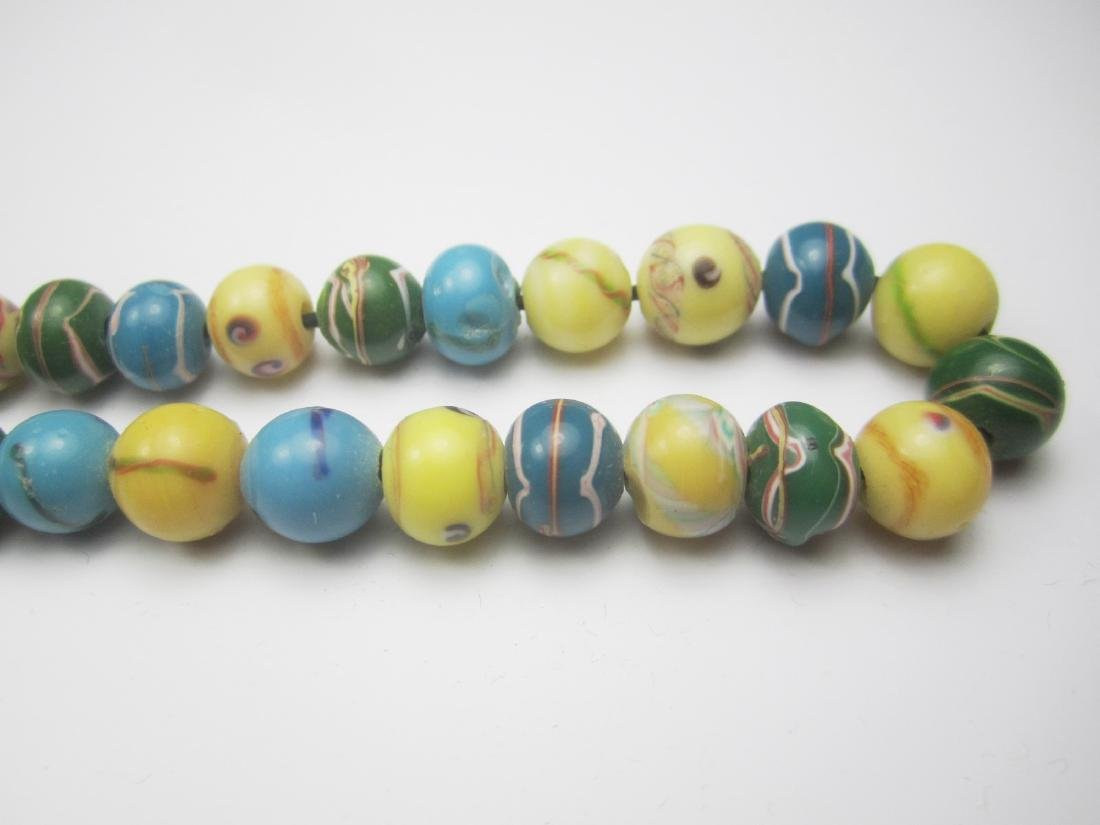 COLOR GLASS BEAD NECKLACE - 2