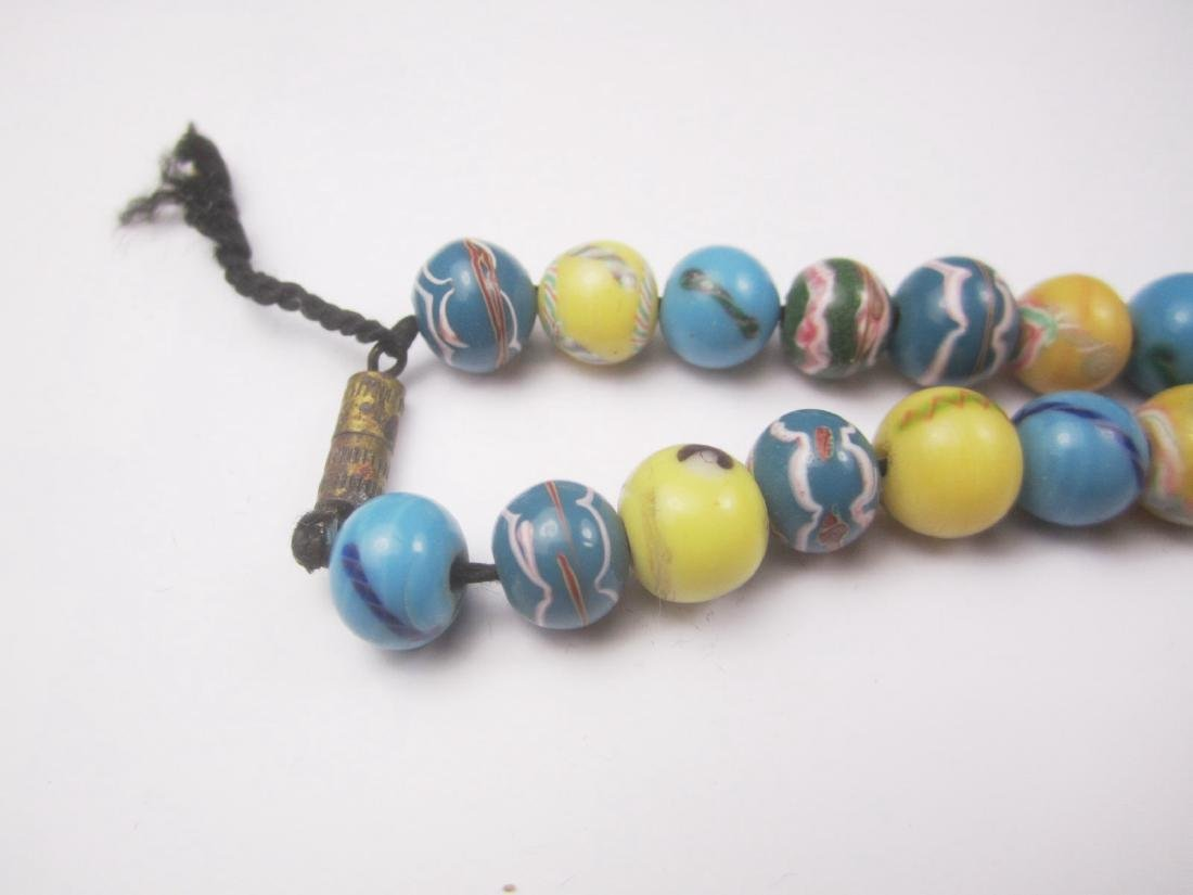 COLOR GLASS BEAD NECKLACE - 3