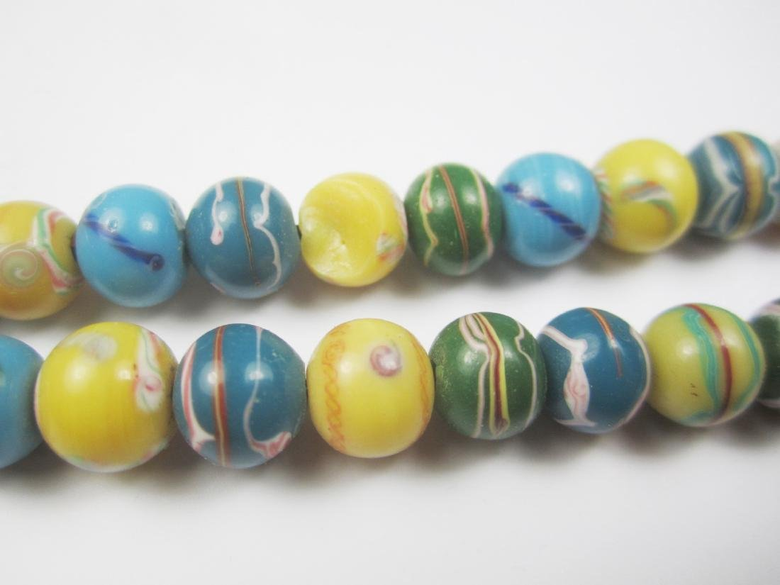 COLOR GLASS BEAD NECKLACE - 4