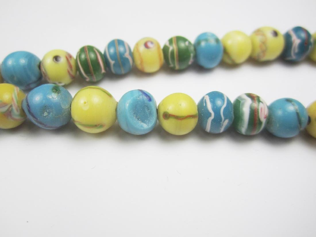 COLOR GLASS BEAD NECKLACE - 5