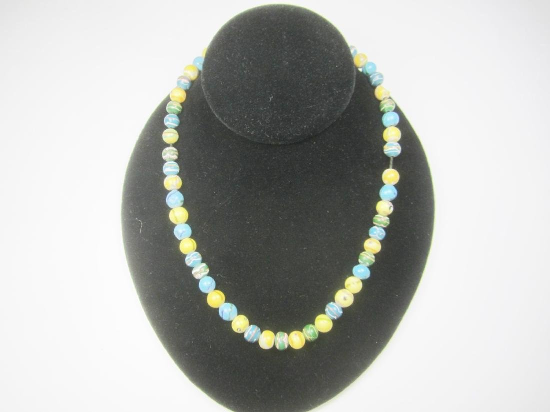 COLOR GLASS BEAD NECKLACE - 6