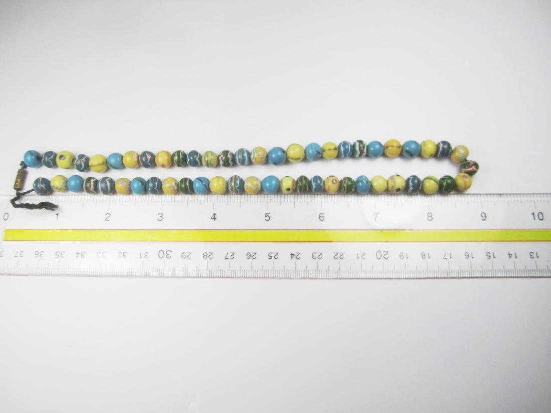 COLOR GLASS BEAD NECKLACE - 7