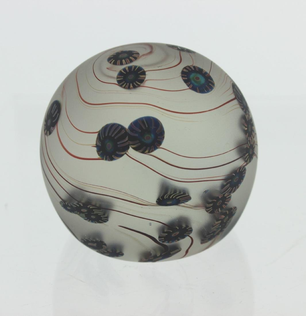 SIGNED GLASS PAPERWEIGHT