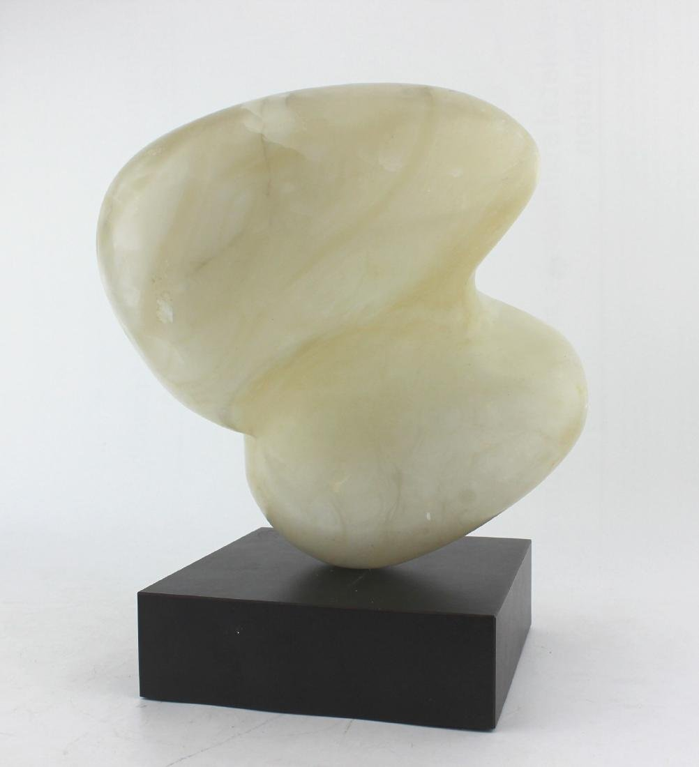 CONTEMPORARY ABSTRACT ALABASTER SCULPTURE SIGNED