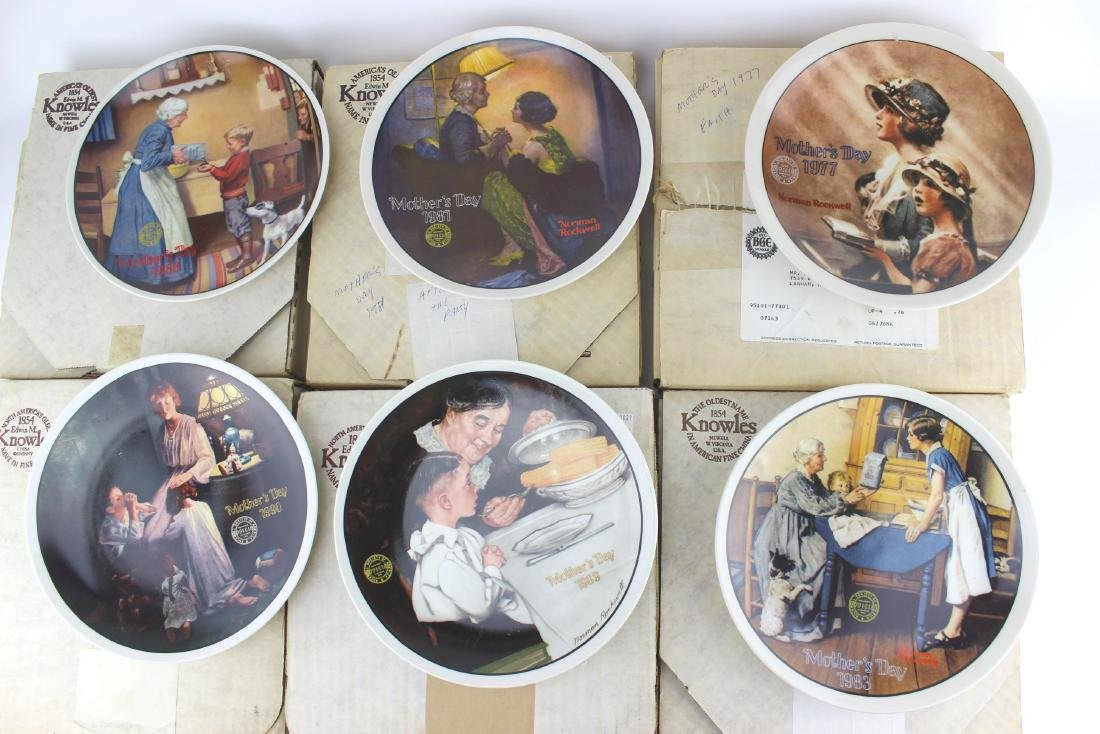 "SIX NORMAN ROCKWELL ""MOTHER'S DAY"" PLATES"