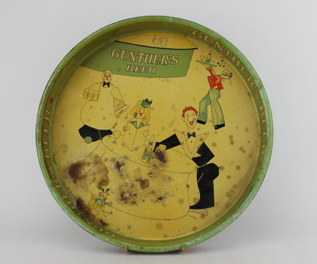 1934 GUNTHER'S BEER TRAY