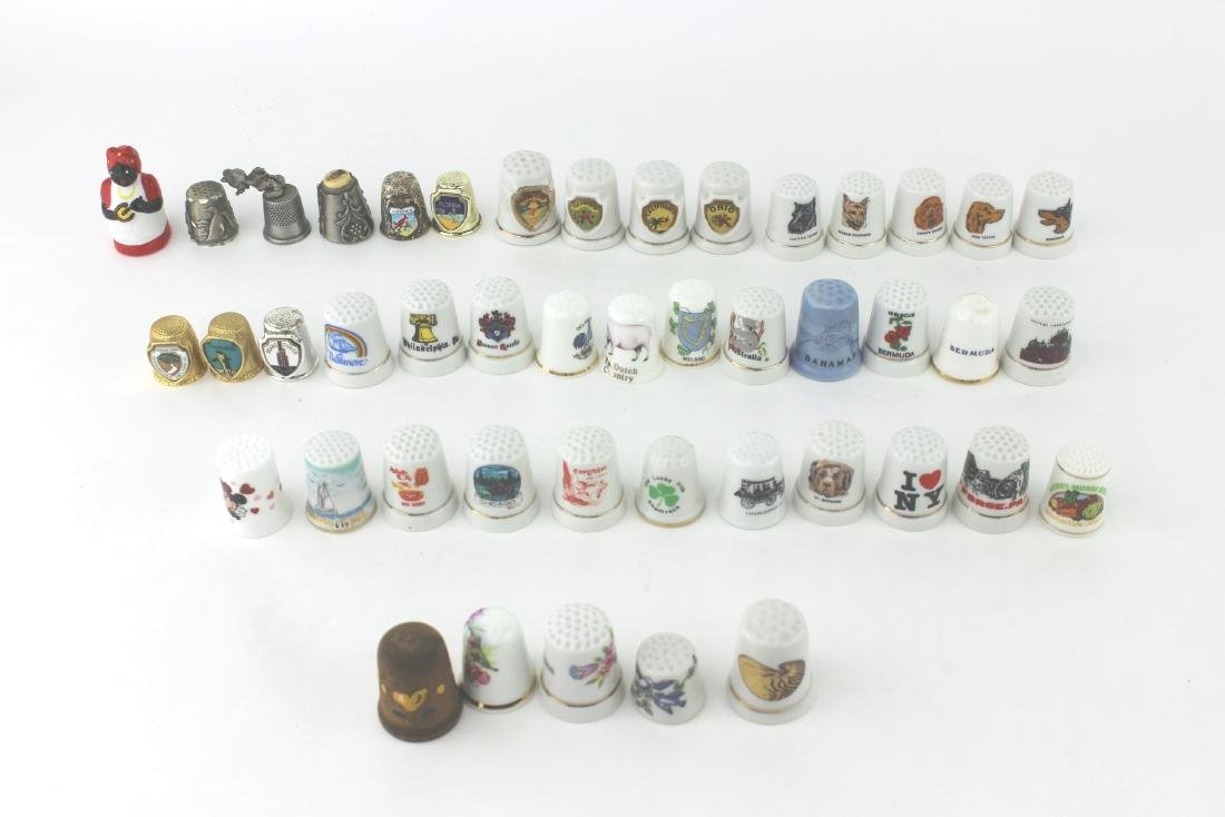 LOT OF 45 COLLECTIBLE THIMBLES