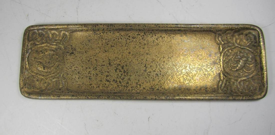 TIFFANY STUDIOS #1000 GILT ZODIAC PEN TRAY