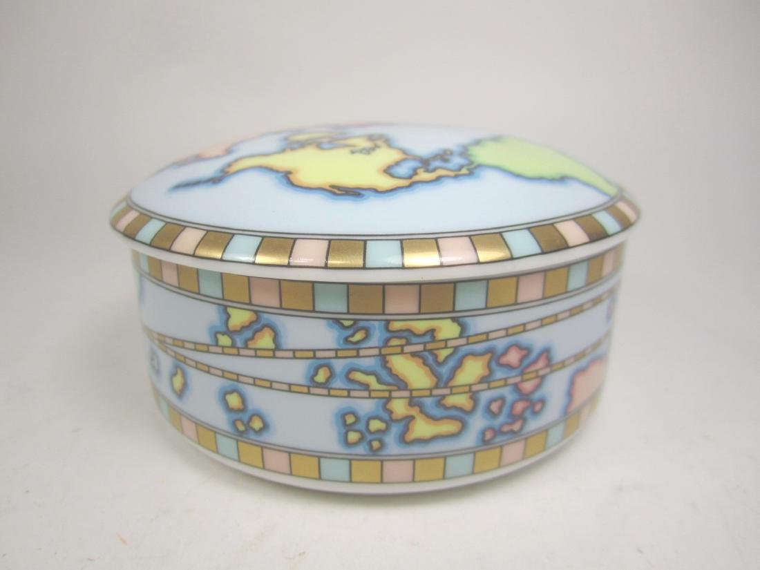 TIFFANY & CO. PORCELAIN WORLD MAP TRINKET BOX