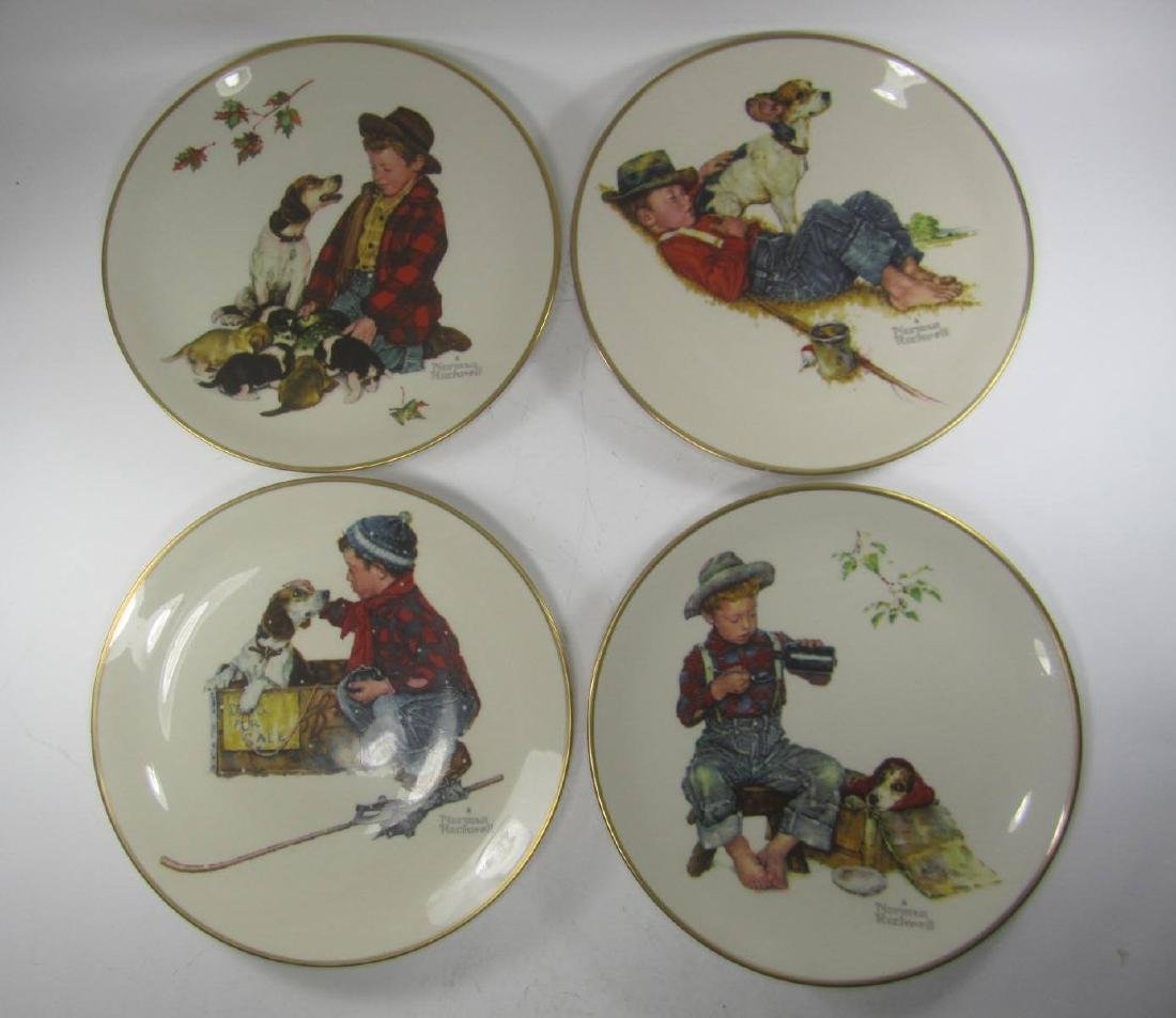 NORMAN ROCKWELL FOUR SEASONS PLATES, 1971