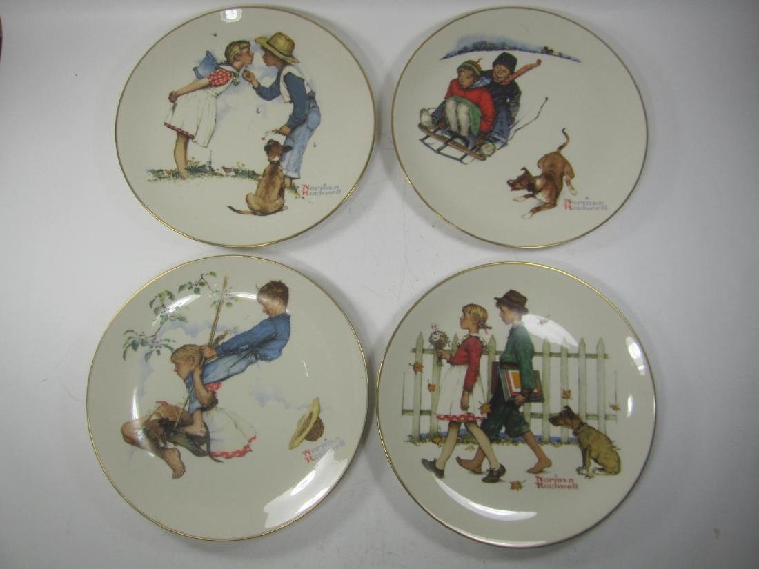 NORMAN ROCKWELL FOUR SEASONS PLATES, 1972