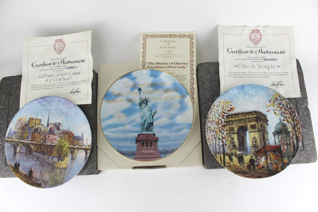 THREE AUTHENTIC COLLECTOR'S PLATES