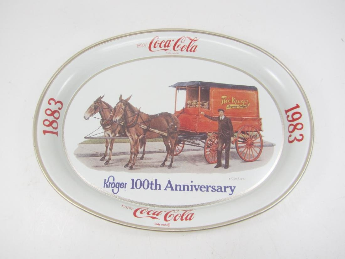 COCA-COLA KROGER 100TH ANNIVERSARY TRAY
