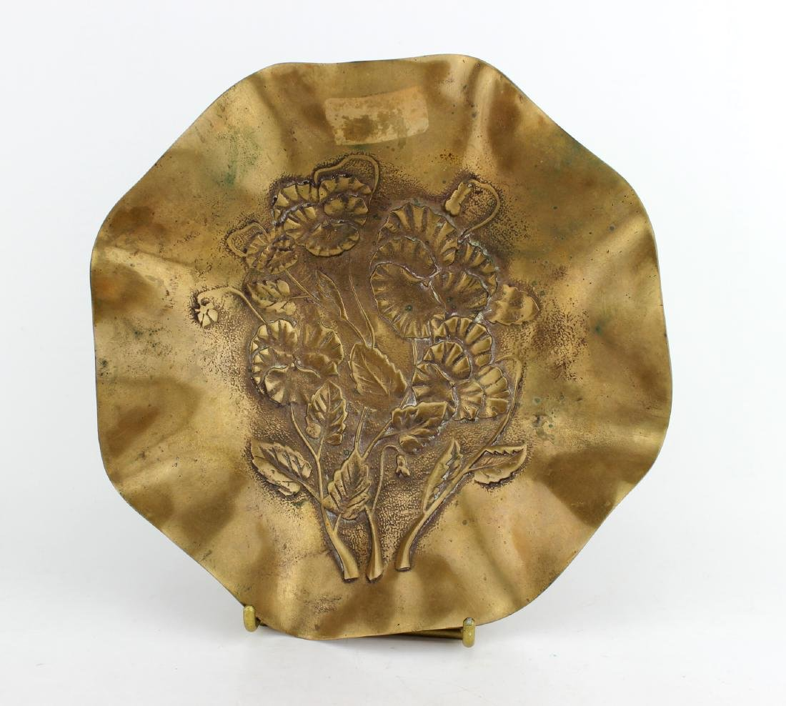 BRASS LOTUS LEAF DISH