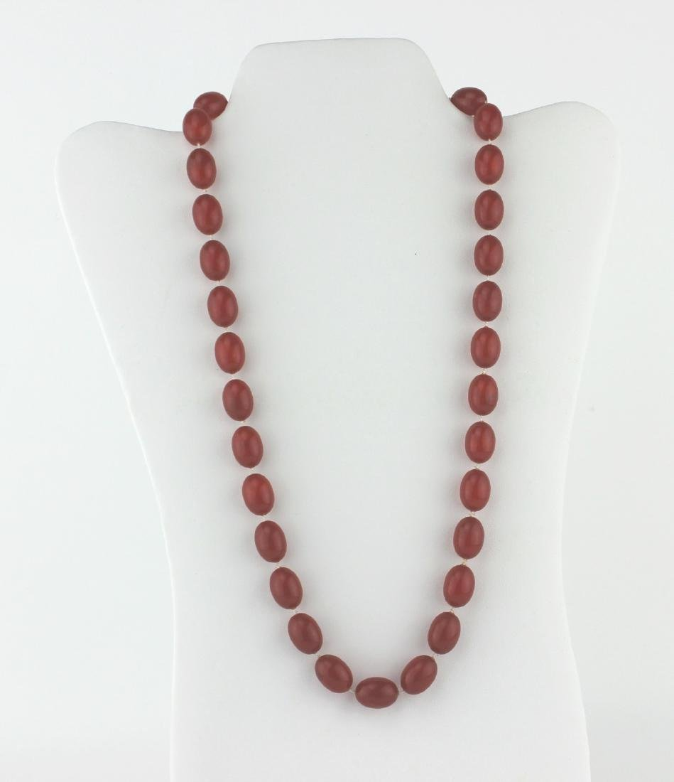 PRESSED AMBER NECKLACE