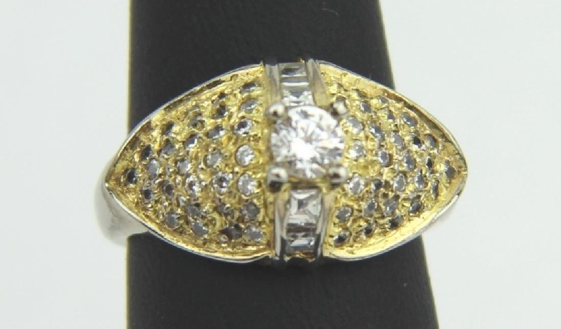 GOLD PLATED SILVER CUBIC ZIRCONIA RING SIZE 7