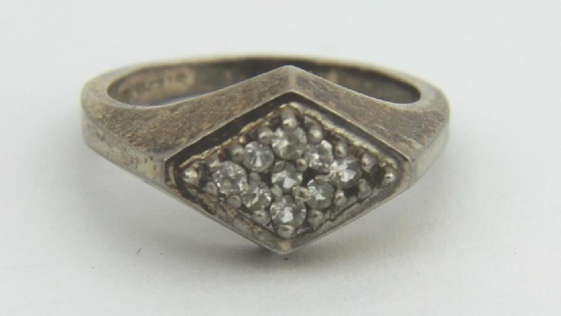 GOLD PLATED SILVER DIAMOND RING