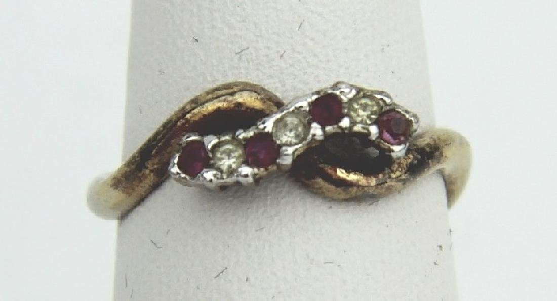 GOLD PLATED SILVER RUBY RING
