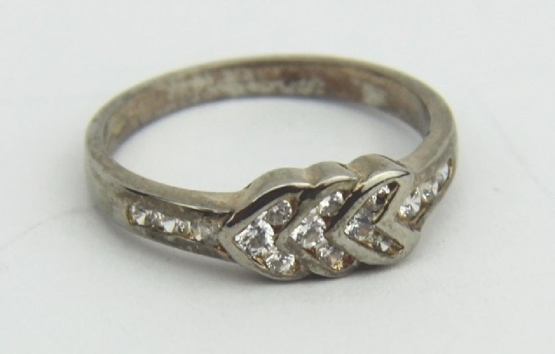 GOLD PLATED SILVER CUBIC ZIRCONIA RING