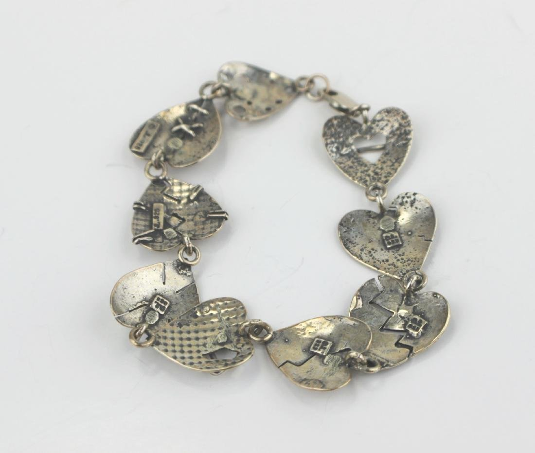 STERLING HEART-SHAPE BRACELET