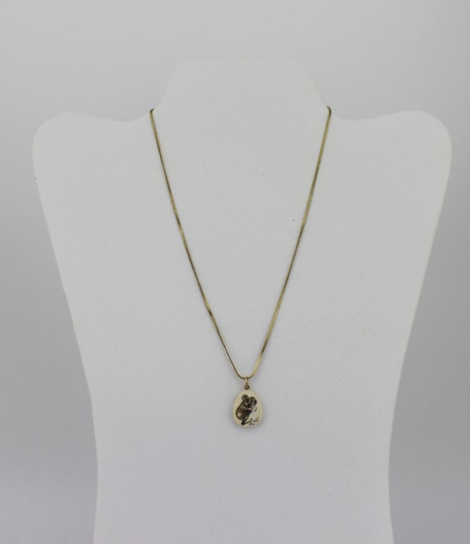 1/20 12KGF NECKLACE WITH BONE PENDANT