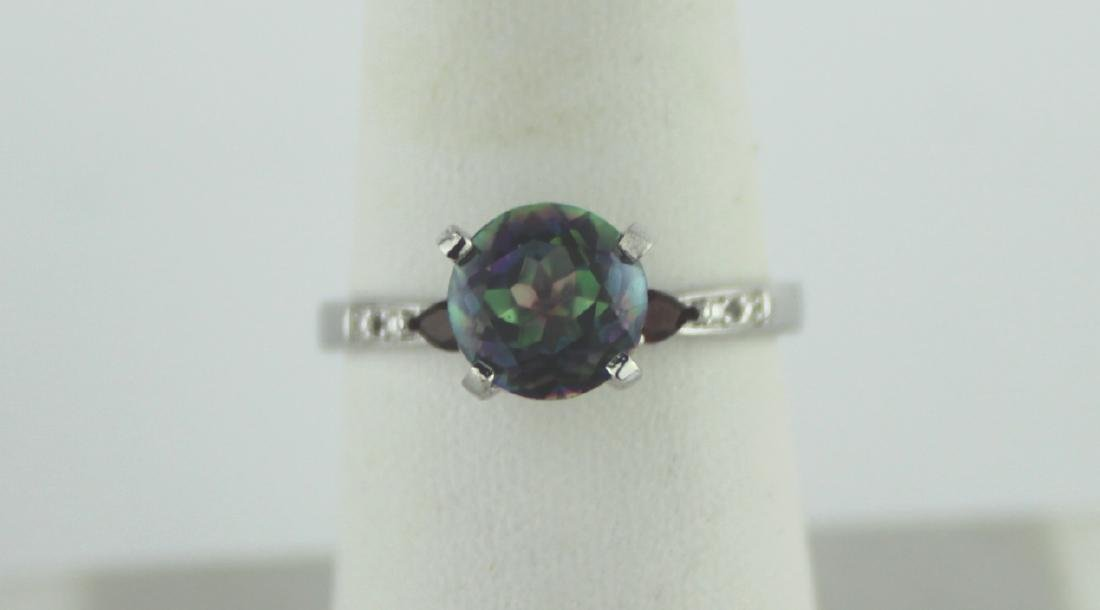 MYSTIC TOPAZ AND GARNET RING