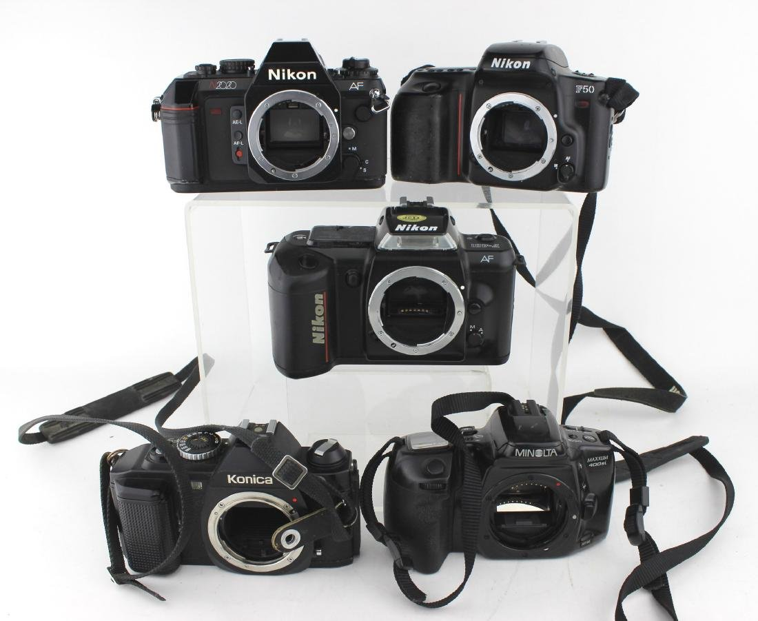 FIVE 35 MM SLR CAMERA  BODIES