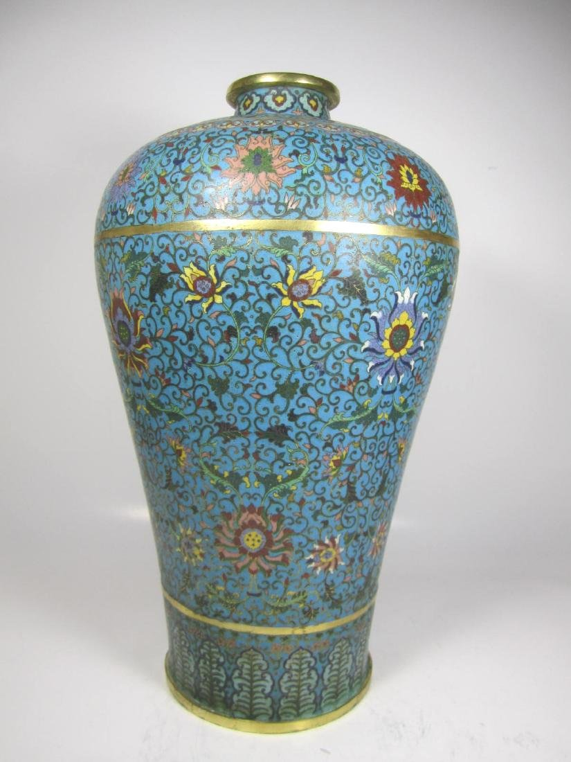RARE CHINESE CLOISONNE MEI PING - 2
