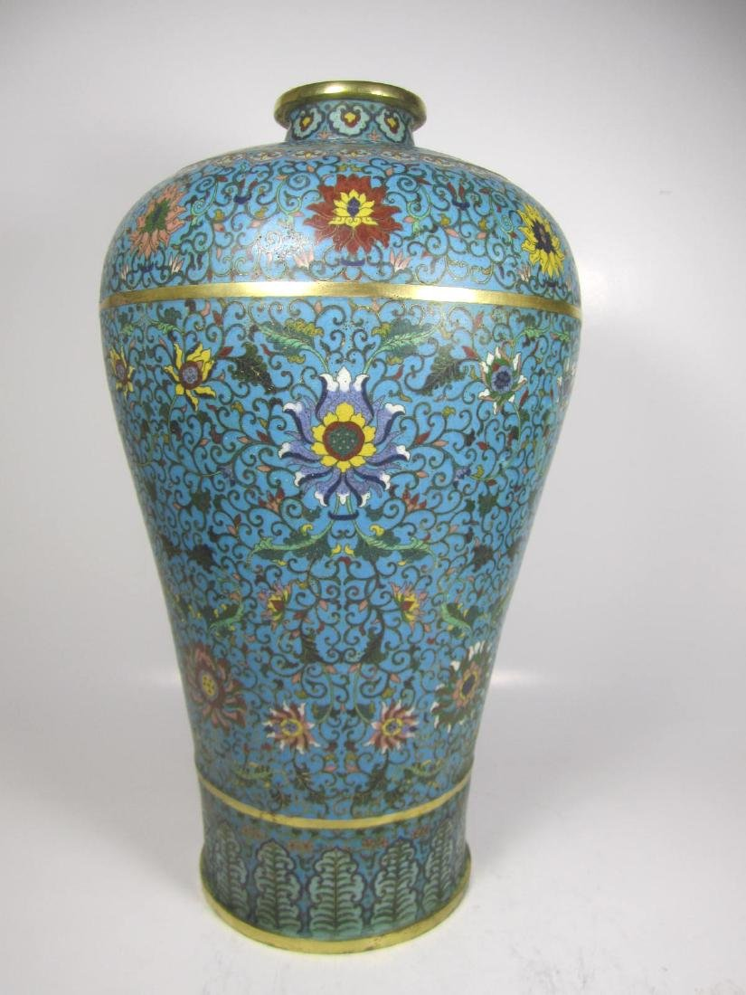 RARE CHINESE CLOISONNE MEI PING - 3