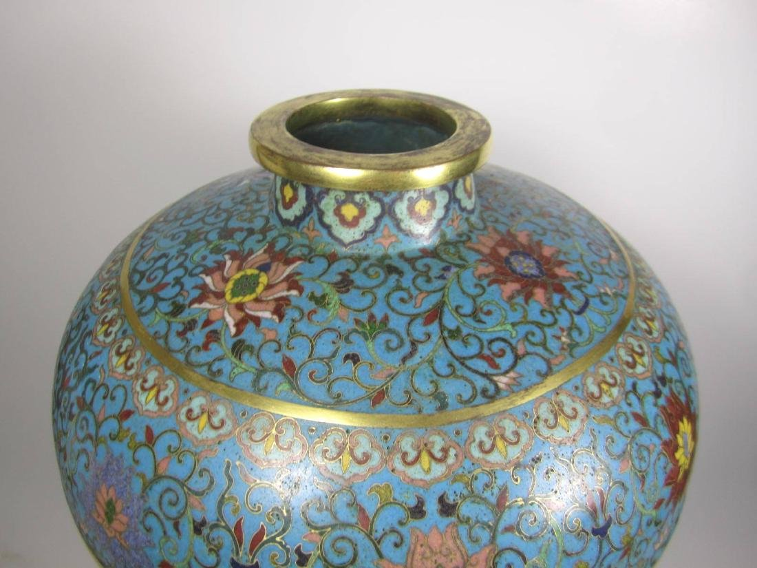 RARE CHINESE CLOISONNE MEI PING - 4