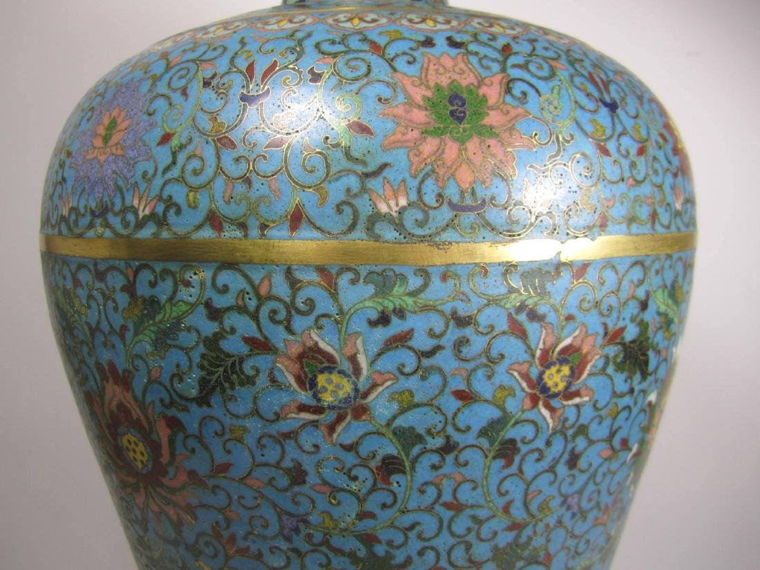 RARE CHINESE CLOISONNE MEI PING - 5