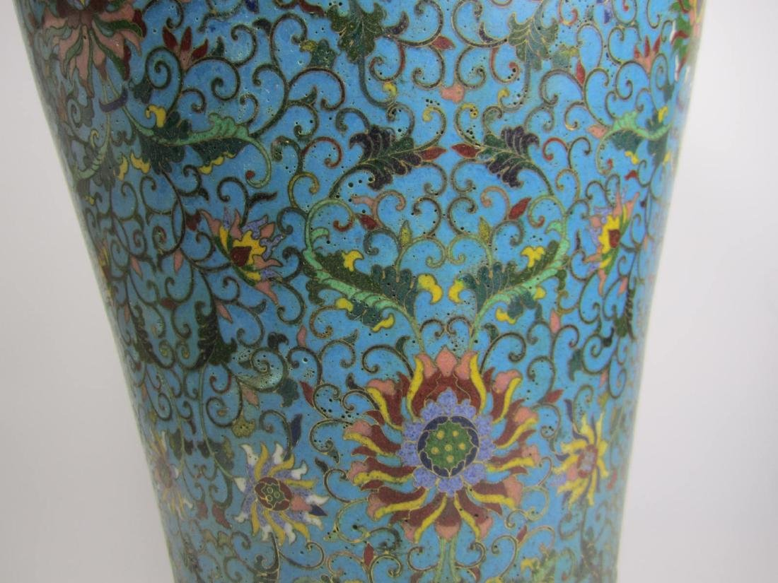 RARE CHINESE CLOISONNE MEI PING - 6