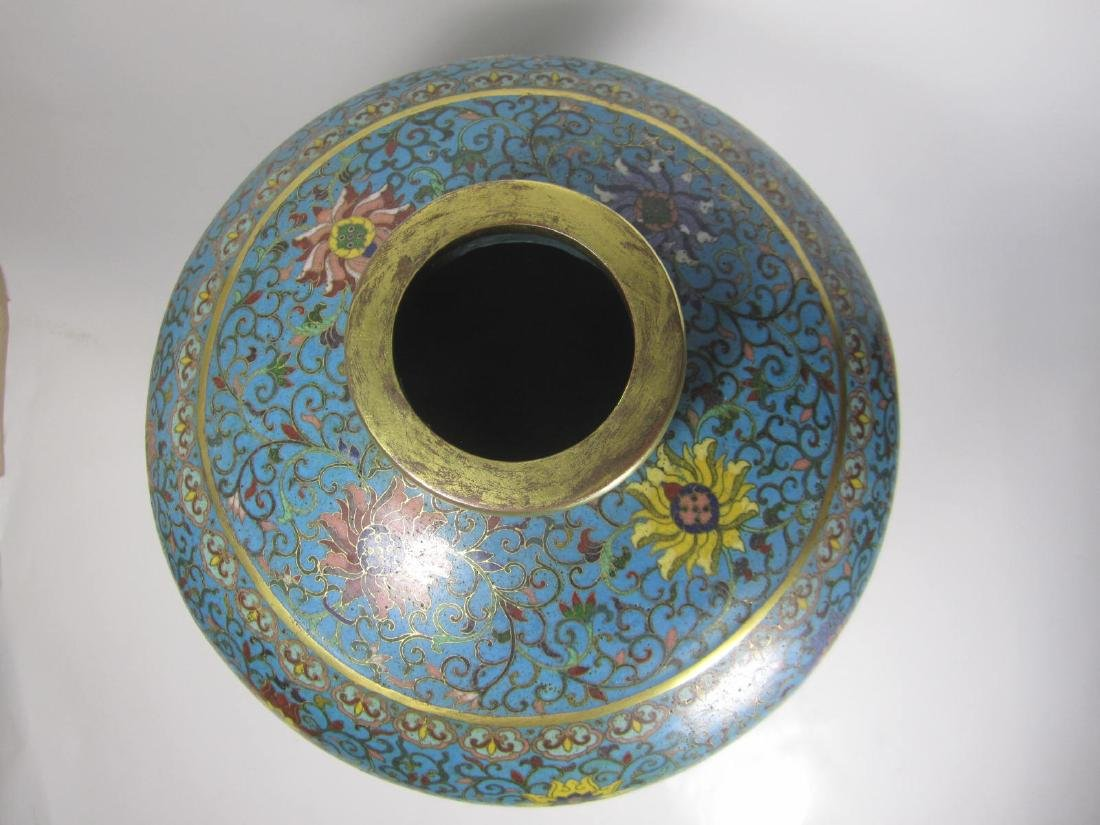 RARE CHINESE CLOISONNE MEI PING - 7
