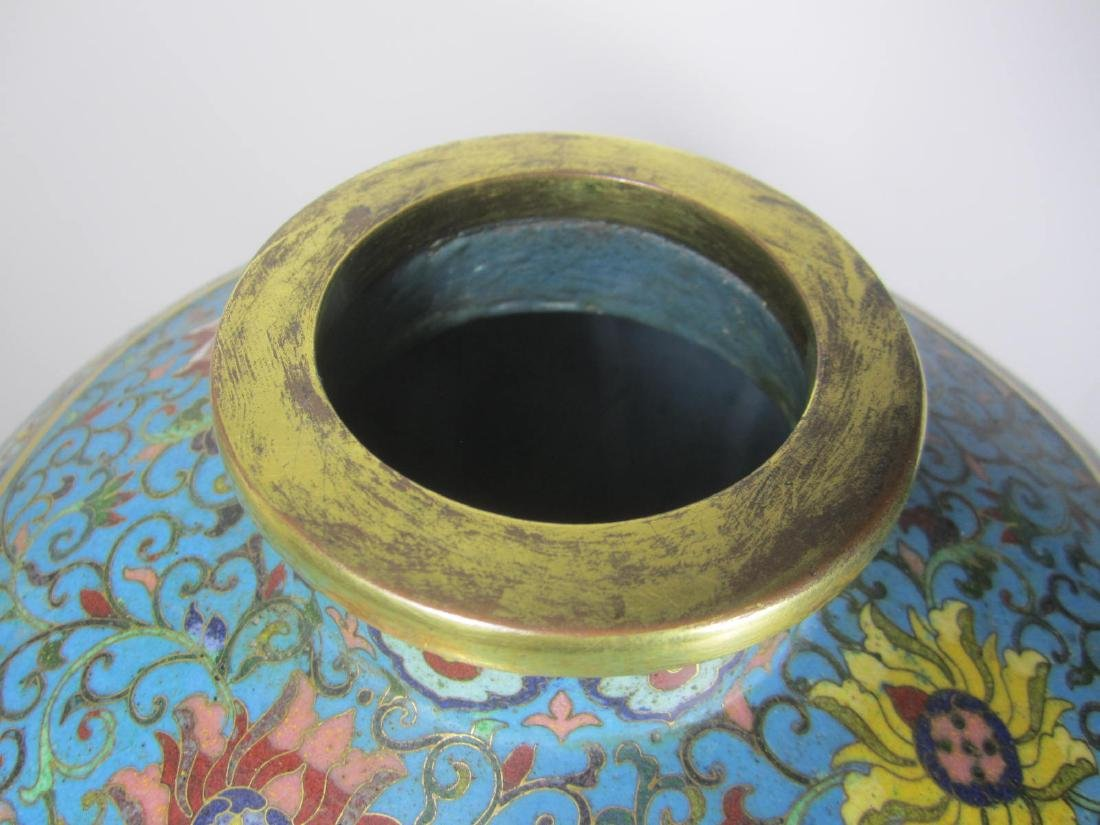 RARE CHINESE CLOISONNE MEI PING - 8