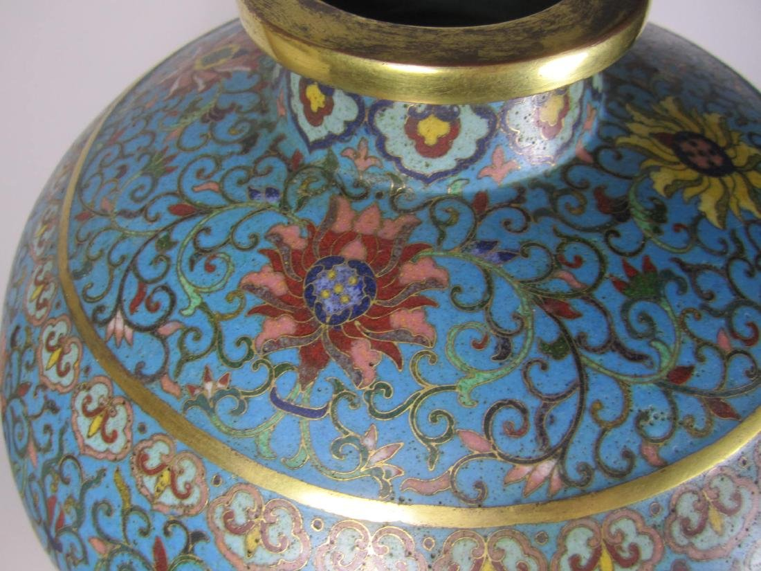 RARE CHINESE CLOISONNE MEI PING - 9