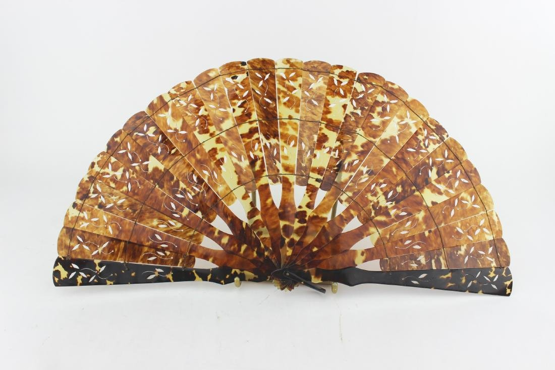 A TORTOISE SHELL FAN