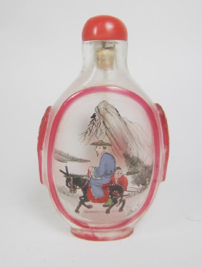 CHINESE INSIDE PAINTING SNUFF BOTTLE - 2