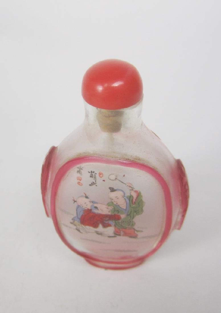 CHINESE INSIDE PAINTING SNUFF BOTTLE - 3
