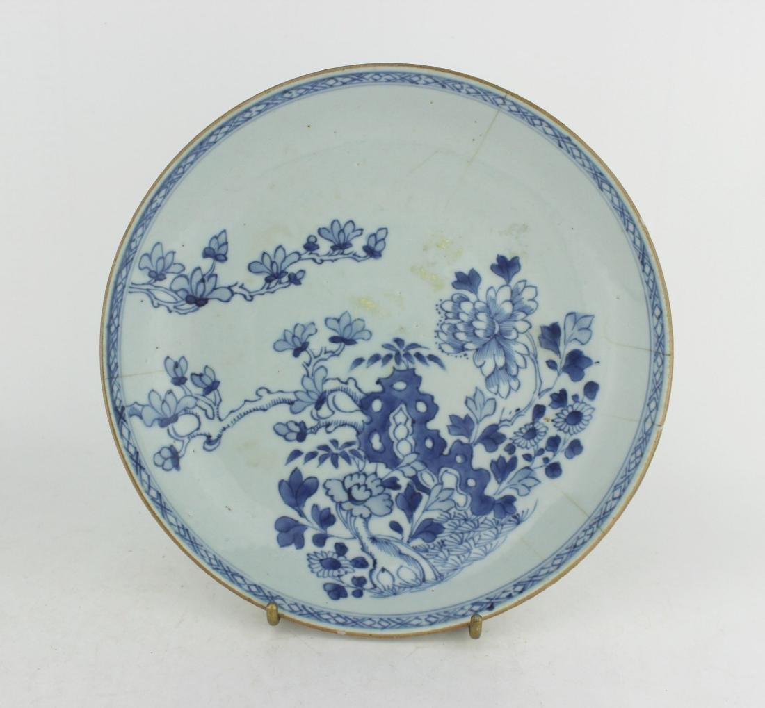 18 CENTURY CHINESE BLUE/WHITE DISH