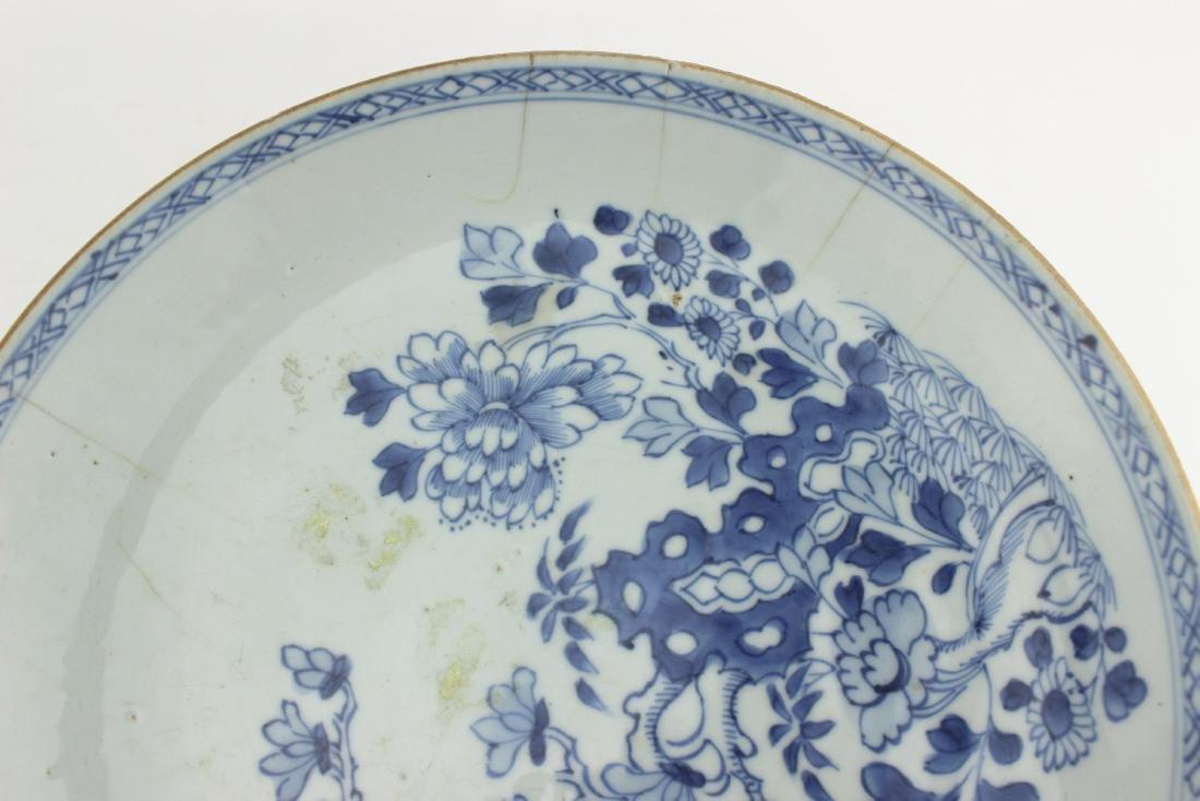 18 CENTURY CHINESE BLUE/WHITE DISH - 5