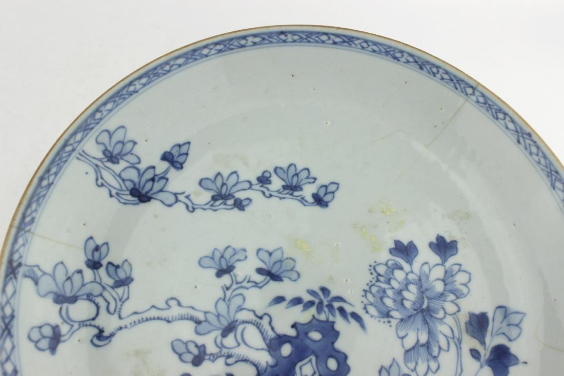 18 CENTURY CHINESE BLUE/WHITE DISH - 6