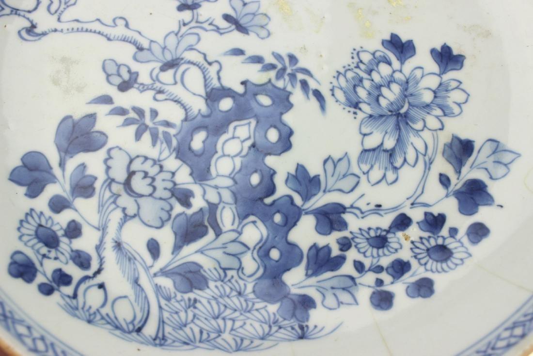 18 CENTURY CHINESE BLUE/WHITE DISH - 7